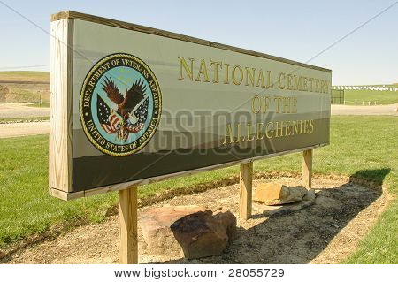 National Cemetery of the Alleghenies sign