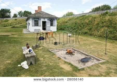 fort building and fire pit