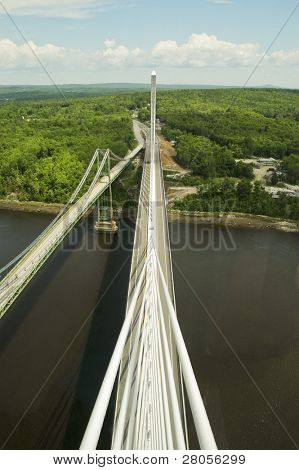 view from Penobscot Narrows Bridge and Observatory