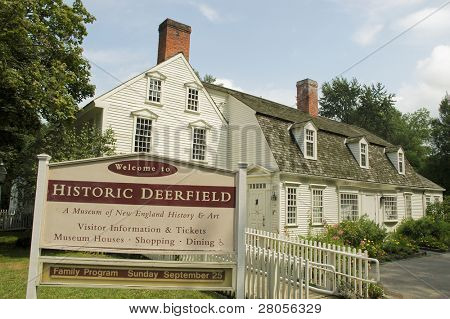 Historic Deerfield sign and building
