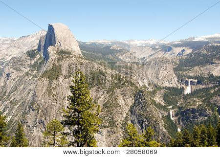 Half Dome, Liberty Cap, Nevada Falls and Vernal Falls