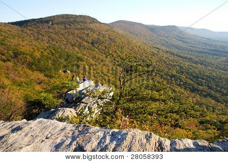 Cheaha State Park overlook of forest and hills