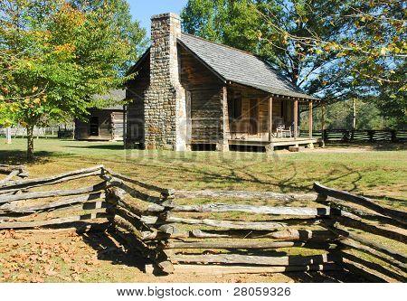 Novas casas de colonos Echota Parque Estadual sítio histórico