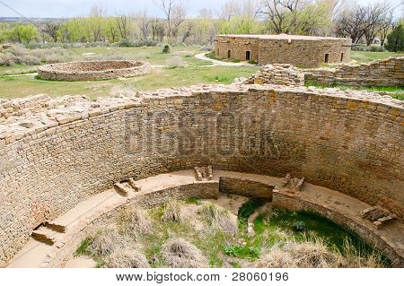 ruins of a native american indian kiva