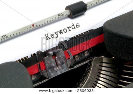 Palabras clave de la máquina de escribir