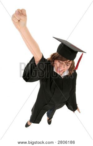Happy Woman At Graduation