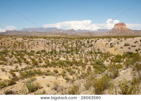 Castellan Peak and Chisos Mountains