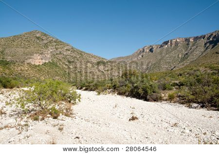 mckittrick canyon dry riverbed