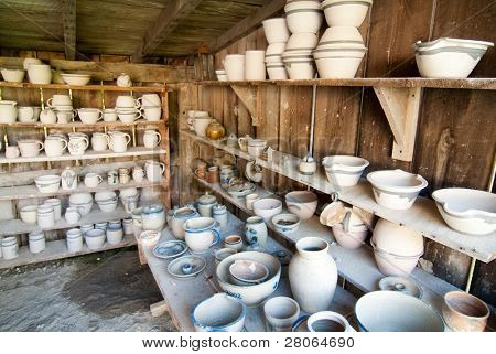 interior pots and dishes