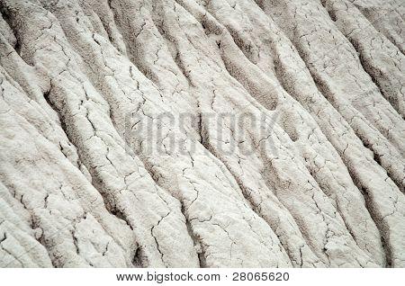 cracked desert hill