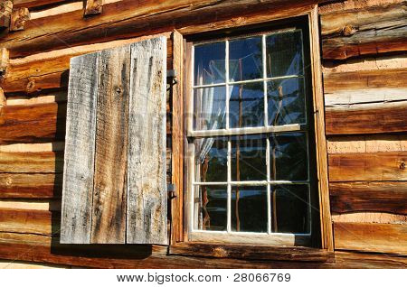historic wooden house and window