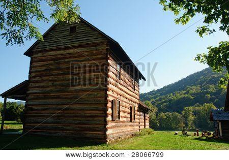 Zebulon Vance Birthplace State Historic Site farmhouse