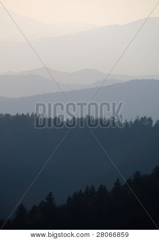 Great Smoky Mountains layers