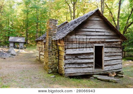 cabin on Roaring Fork Motor Nature Trail Historic District