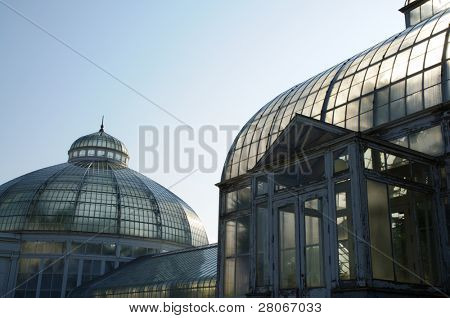 Buffalo and Erie County Botanical Gardens glass conservatory