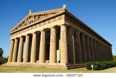 Parthenon replica in a public park