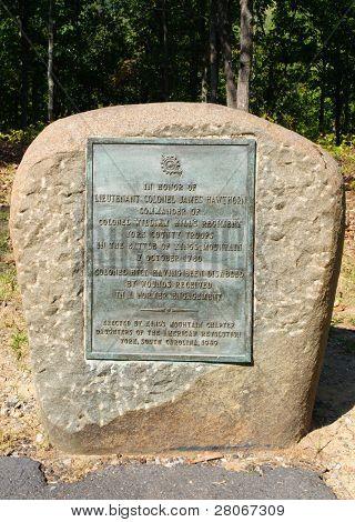Lt Col James Hawthorn battlefield marker