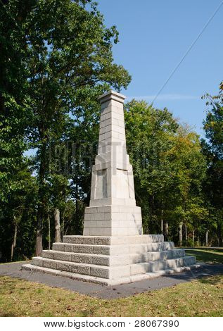 Kings Mountain National Military Park battlefield monument
