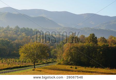 Cades Cove and mountains