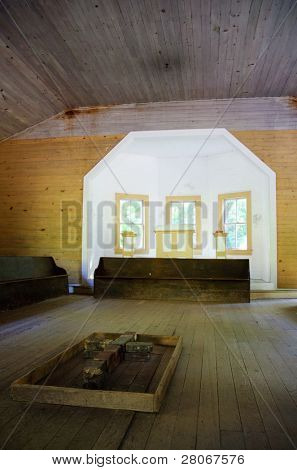 Cades Cove church interior