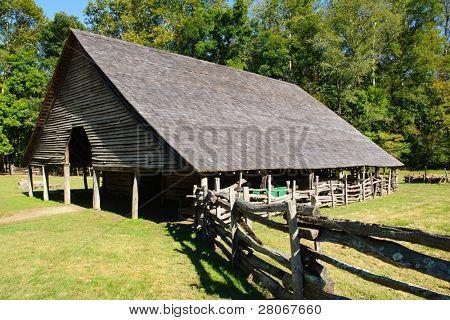 Oconaluftee Mountain Farm Museum barn