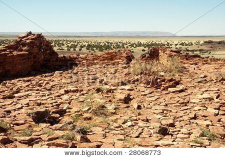 Citadel Pueblo, red stone ruins