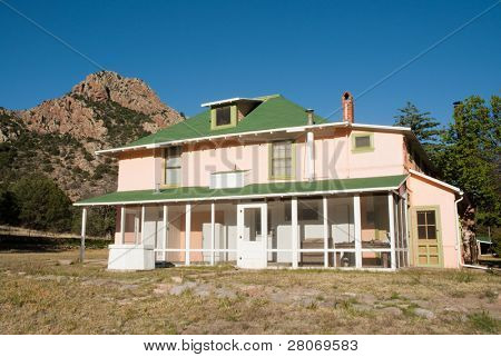 Faraway Ranch Historic District house and mountain