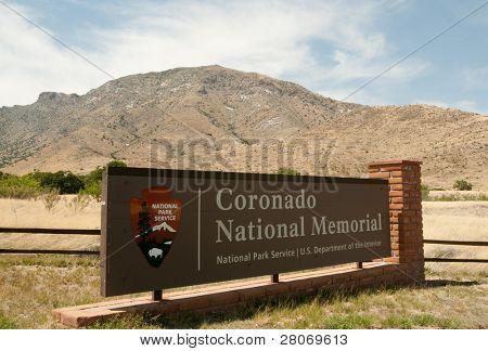 Coronado National Memorial sign