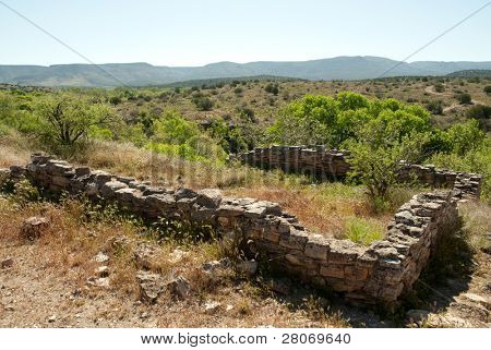 Montezuma Well National Monument stone ruins