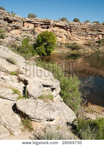 Montezuma Well National Monument native american indian ruins and rocks