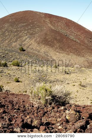 cinder cone and desert brush