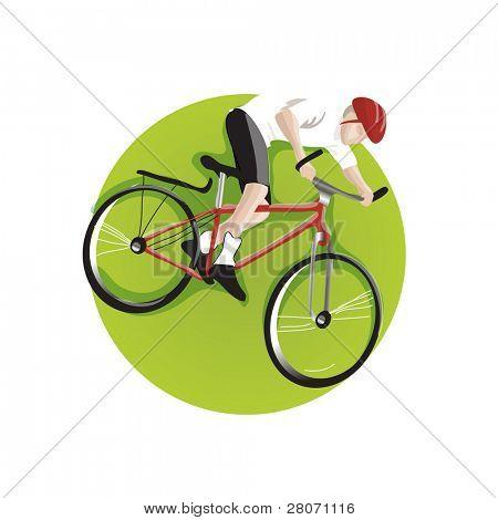 Sport green round icons: bike