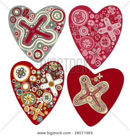 valentine vector heart set