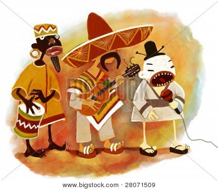 ethnic trio