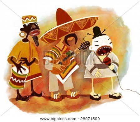 etnické trio