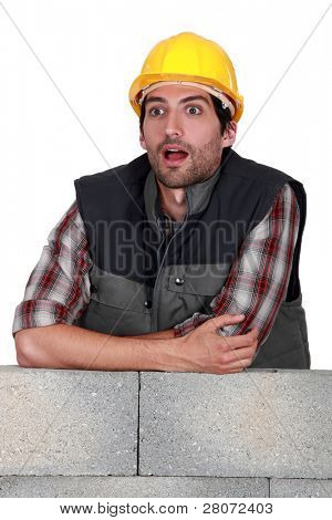 A dumbfounded mason.