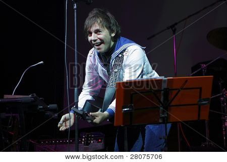 TOMSK, RUSSIA - FEBRUARY 23: Ilya Lagutenko - russian singer, frontman of pop-rock group