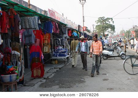SILIGURI, INDIA - DECEMBER 4: Street trading in Siliguri - is a city the transit point for air, road and rail traffic to of Nepal, Bhutan, Bangladesh, December 4, 2008 in Siliguri, India.