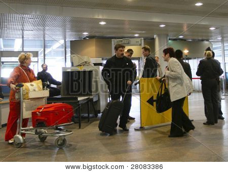 MOSCOW - APRIL 11: Sheremetyevo International Airport increases the number of canceled flights to Europe earlier in connection with the closure of airports in Europe, April 11, 2010 in Moscow, Russia.