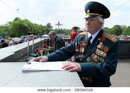 MOSCOW - MAY 9: Victory Day (65th anniversary) in the Great Patriotic War celebrations in Park Kultury, May 9, 2010 in Moscow, Russia.