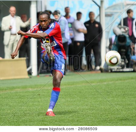 MOSCOW - MAY 10: CSKA's Chidi Odiah in action during their team's Russian football championship game CSKA (Moscow) vs. Terek (Grozny) - (4:1), May 10, 2010 in Moscow, Russia.