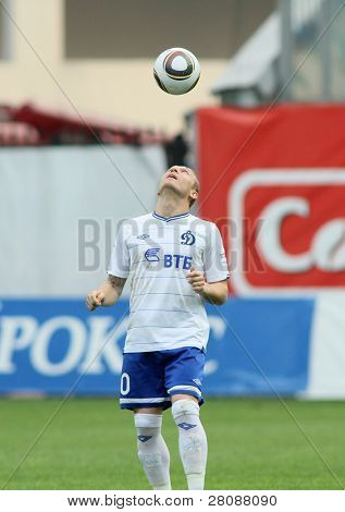 MOSCOW - MAY 15: Dinamo's forward Andrei Voronin in a game of the 11th round of Russian Football Premier League - Dinamo Moscow vs. Alania Vladikavkaz - 2:0, May 15, 2010 in Moscow, Russia.