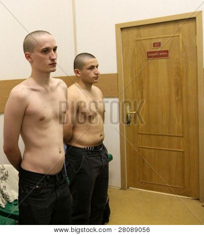 MOSCOW - JUNE 18: Conscripts from the Moscow region undergoing a medical examination at the recruitment center, June 18, 2010 in Moscow, Russia.