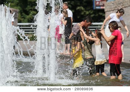 MOSCOW - JUNE 26: Anomalous heatwave in Moscow, established since mid-June, the air temperature does not drop below 30 degrees Celsius, June 26, 2010 in Moscow, Russia.