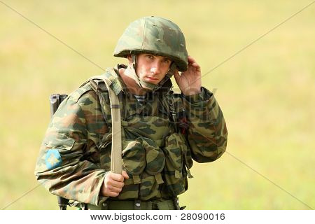 KOSTROMA REGION - AUGUST 26: Command post exercises with 98-th Guards Airborne Division, August 26, 2010 in Kostroma region, Russia.