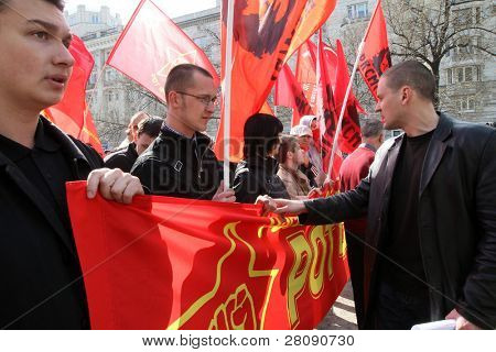 MOSCOW - MAY 1: Leader of the