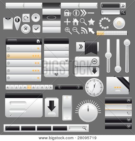 Web and mobile interface elements,vector