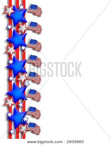 Stars Stripes And Flags Border