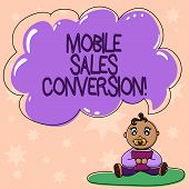 Word Writing Text Mobile Sales Conversion. Business Concept For Any Desired Action That You Want The poster