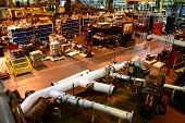 picture of assembly line  - The factory floor of an industrial assembly plant - JPG